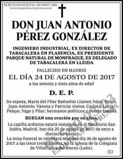 Juan Antonio Pérez González
